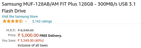 Samsung Fit Plus on Samsung Store - Huge Price Difference from Amazon