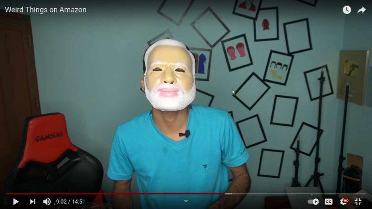Weird Things on Amazon - Arjyou - Amazon - modiji ka mask