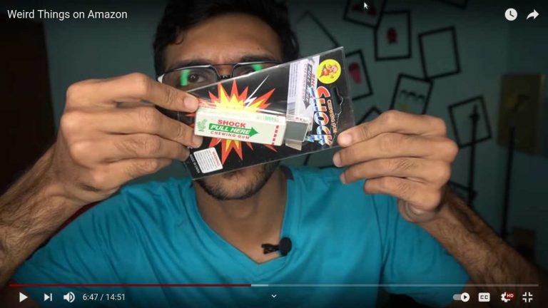 Weird Things on Amazon - Arjyou - Amazon - shocking chewing gum